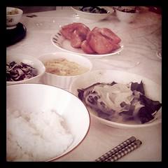 夏のモーニング食卓