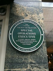 Photo of Special Operations Executive green plaque