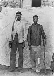 Samuel and Julius Maherero, leaders of the Herero rebellion against German imperialism in 1904. The Germans, in retaliation, killed 60,000 Africans and enslaved many more for over 80 years. by Pan-African News Wire File Photos