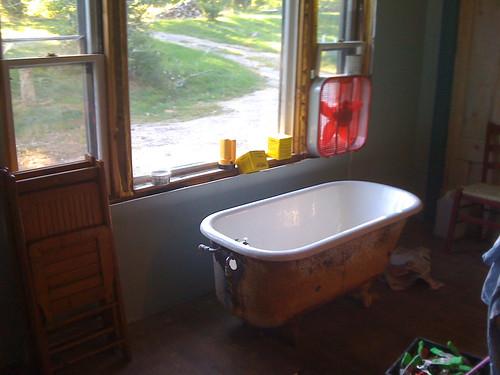 new bathtub!