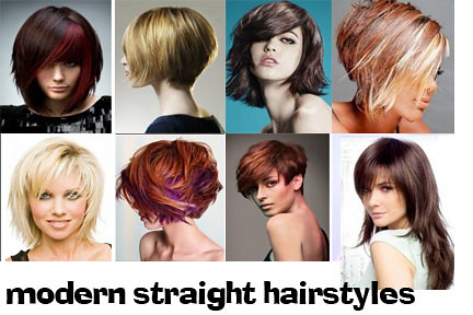 modern straight hairstyles for women by yellowstar2000