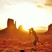 .... Sunrise over Monument Valley Utah! Home of the John Wayne movies