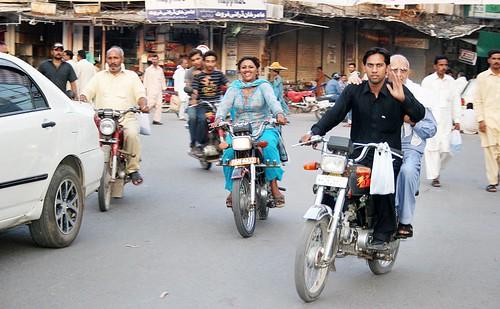 Pakistani Girl Drive Motor Scoter