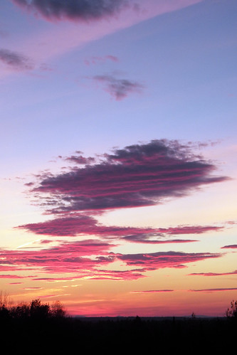 sunset sky usa cloud color colour clouds landscape landscapes maine places sidney kennebeccounty pondrd