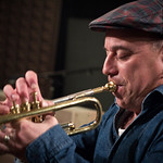 Jazz trumpeter and bandleader Steven Bernstein and his Millennial Territory Orchestra take the songs of Sly Stone into new territory on the new album 'MTO Plays Sly,' and in this Studio A session with host Rita Houston. [10/12/11] Photo by Tim Teeling