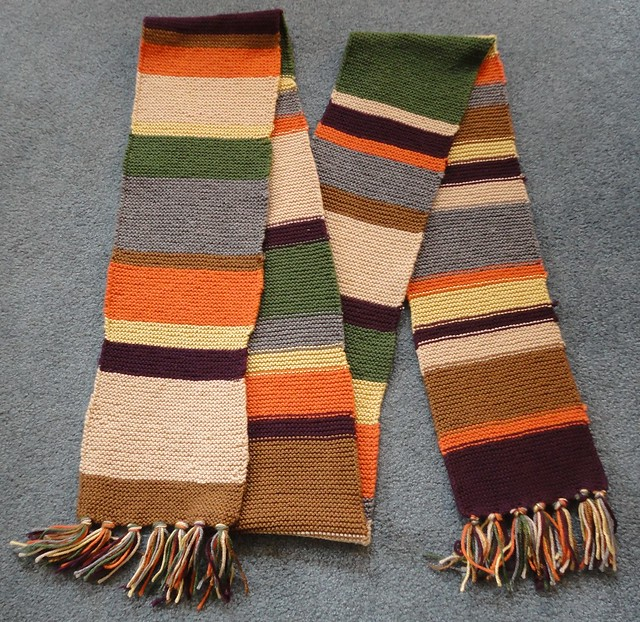 Knitting Pattern Fourth Doctor Scarf : 4th Doctor Scarf I knitted my own 4th Doctor scarf from Do? Flickr - Phot...
