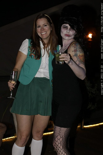 zombie amy winehouse on the deck with a tall girl scout    MG 5677