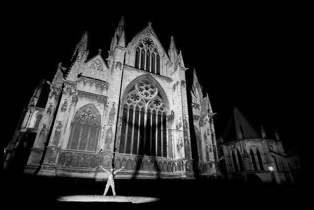 Self Portrait on Lincoln Cathedral