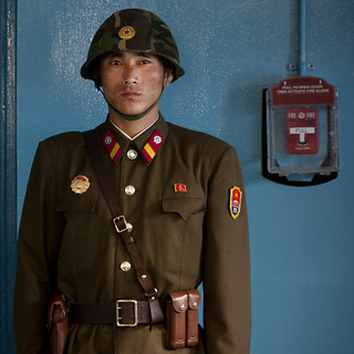 North Korean soldier at the DMZ - North Korea