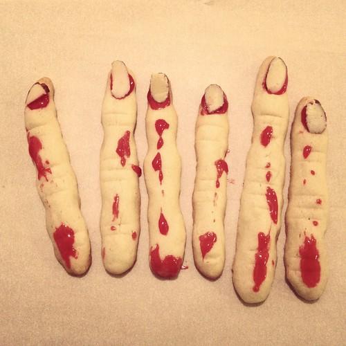 Bloody finger cookies
