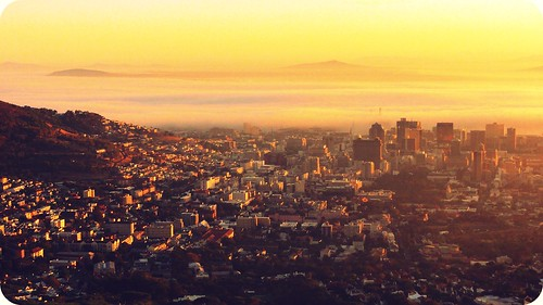 africa city sun sunlight sunrise cityscape shine capetown snowpatrol tablemountain kapstadt