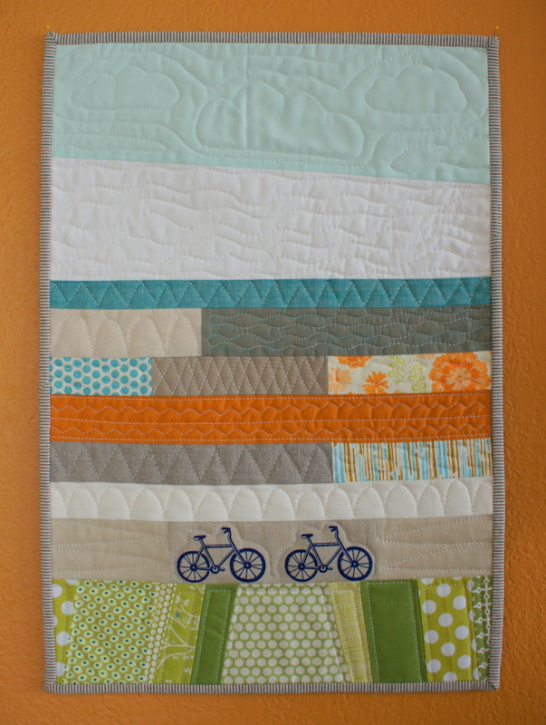 bitty bike quilt for Suzanne