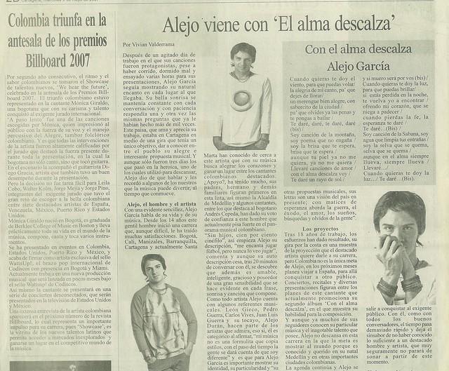 Periódico La Verdad Cartagena Mayo 2007