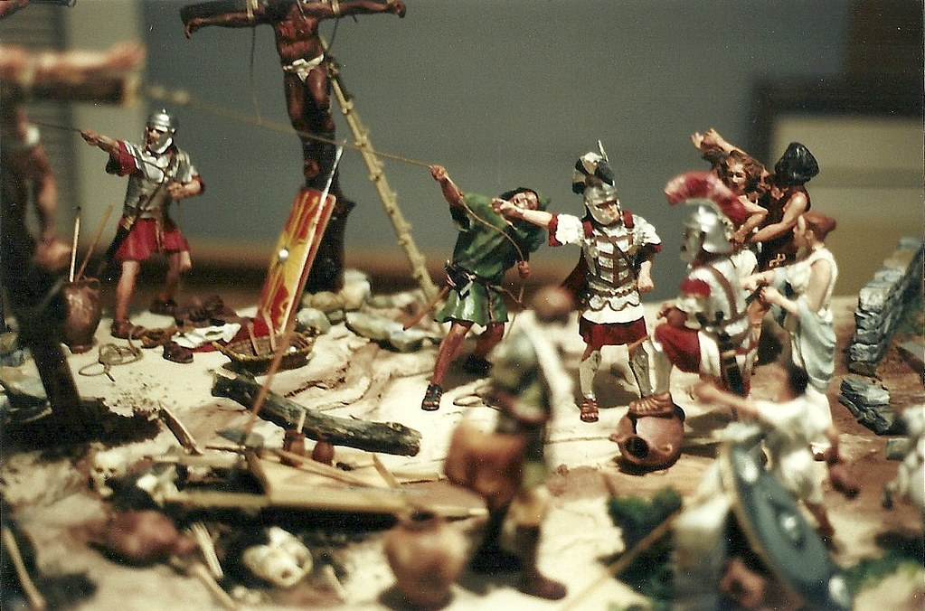 The Mark At Calvary - Wood Diorama, Partial Completion