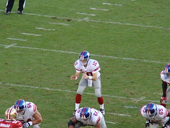 Eli Manning in Shotgun Formation