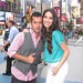 Angel y Amelia en Times Square para Escandalo TV