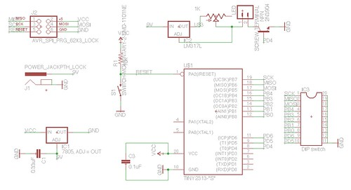 LED timer schematic