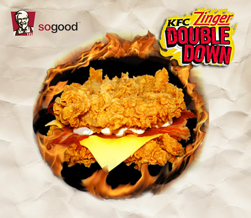 KFC ZINGER DOUBLE DOWN - double the heat and meat! | Azraels ...