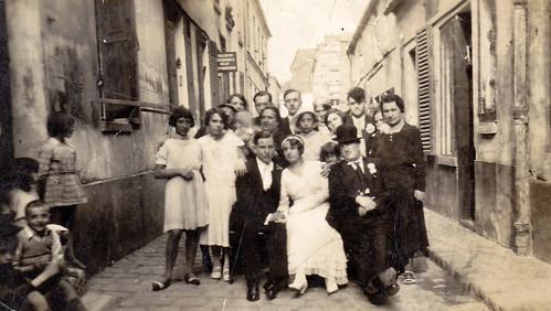 Street wedding. France. 1920s