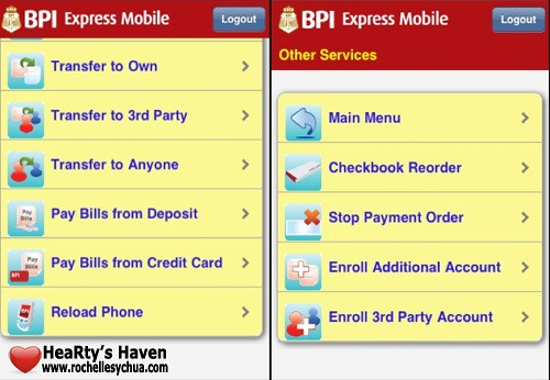 BPI Express Mobile Features