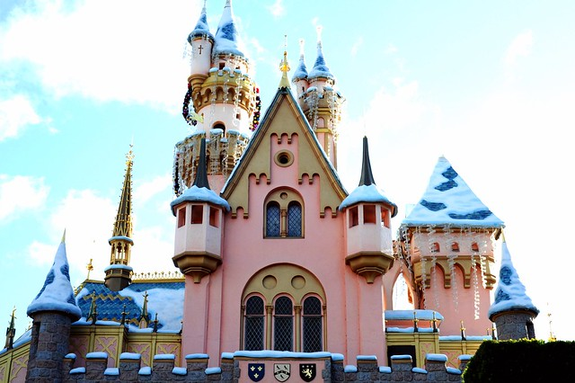 The Back Side of Sleeping Beauty's Castle at Disneyland