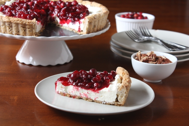 Cranberries and Cream Tart
