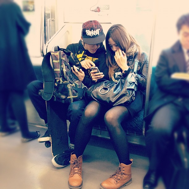 Couple on the Yamanote