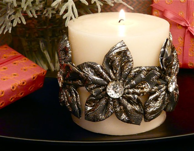 How to Make a Kanzashi Candle Wrap (and win Kanzashi Makers)