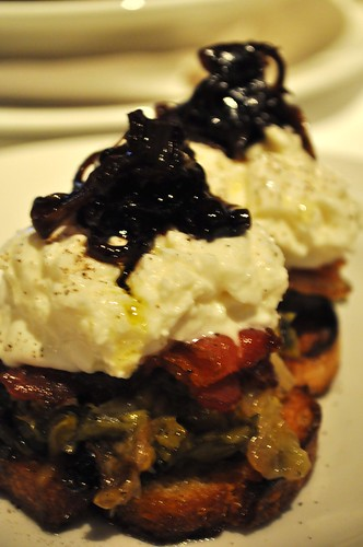 burrata with bacon