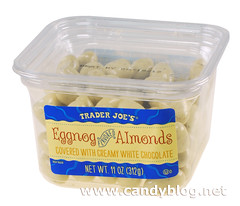 Trader Joe's Eggnog Flavored Almonds covered with Creamy White Chocolate