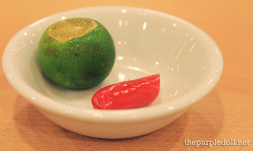Calamansi and Chili for Sauce