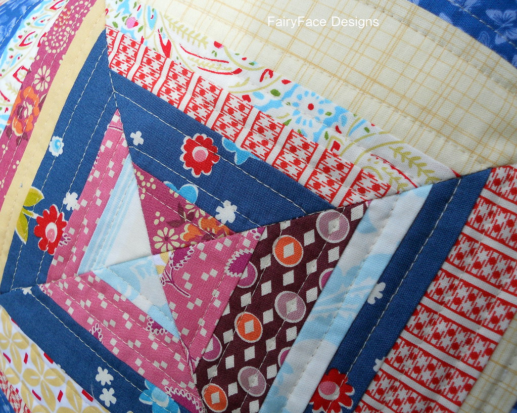 String cushion quilting closeup