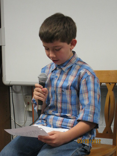 3/28/12: Jonathon reading at Quill&Scroll