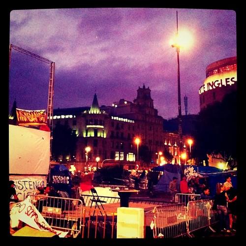 Últim dia de #acampadabcn a plaça Catalunya. #Barcelona #indignats