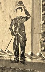 Charlie Chaplin a mere shadow ...