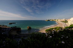 Biarritz' cove is perfect for water sports