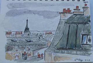 Vue sur les toîts de Paris.