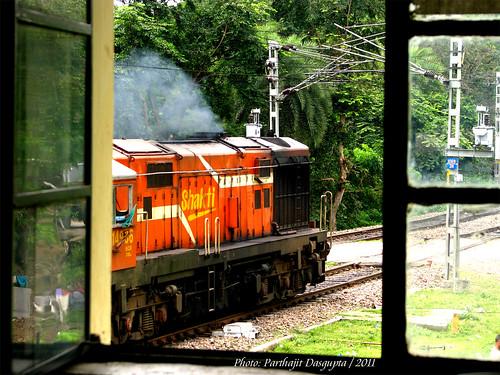 orange window diesel locomotive passenger lucknow shakti dilkusha indianrailway wdg3a