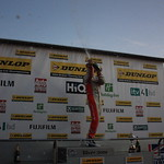 Matt Neal celebrates 2011 BTCC title