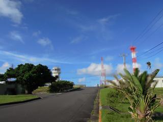 自衛隊硫黄島基地のメインストリート