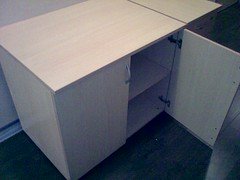 plywood, drawer, furniture, room, filing cabinet, desk,