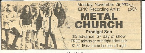 11-29-93 Metal Church @ Minneapolis, MN