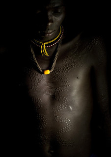 Man with scarifications - Tulgit Ethiopia