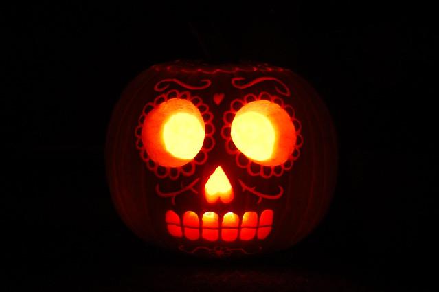 Dia De Los Muertos Pumpkin Stencils