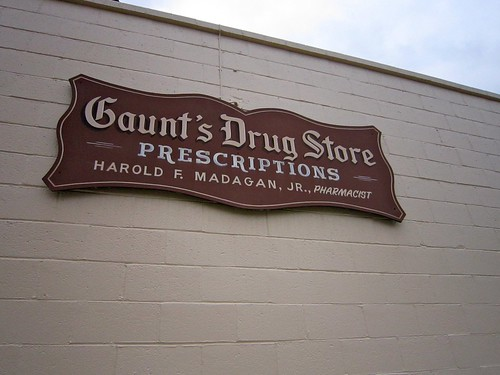 Gaunt's Drug Store Sign
