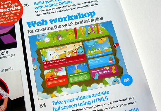 Web Designer Magazine workshop (contents page)