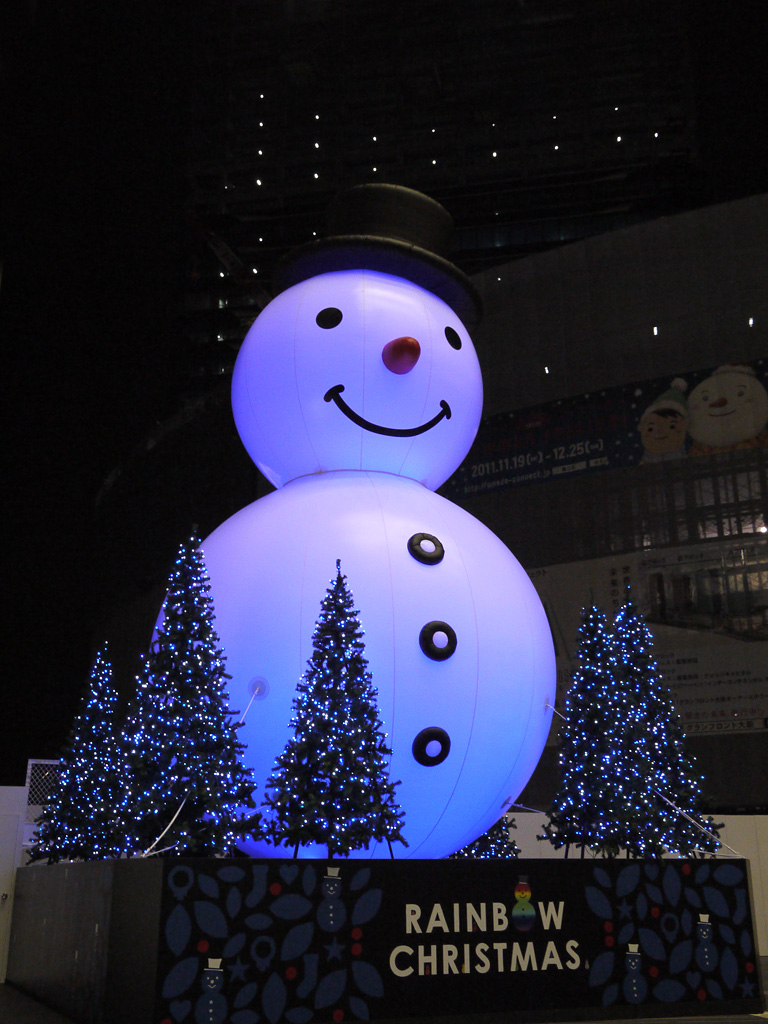 the big snowman at Osaka Station
