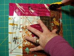 Wonky Log Cabin Block - step 10