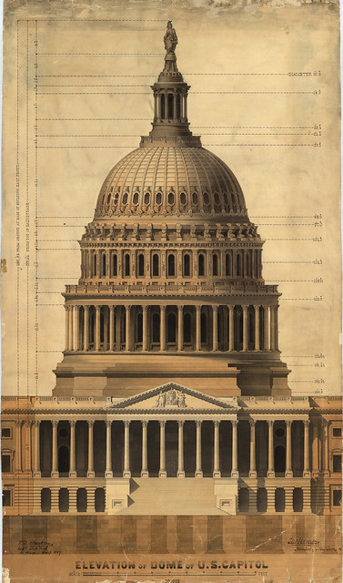 Design layout of the U.S. Capitol Dome