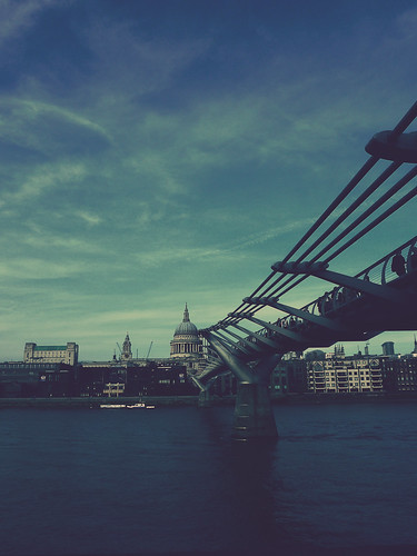 {St Paul's Cathedral and the Millennium Bridge}